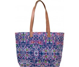 Navy Kantha Tote FRONT