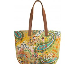 Yellow Kantha Tote FRONT