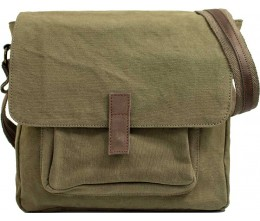 Olive Green Canvas Crossbody FRONT
