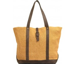 Almond Jute Shoulder Bag FRONT