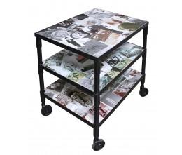 Photo Collage 3-Shelf Cart
