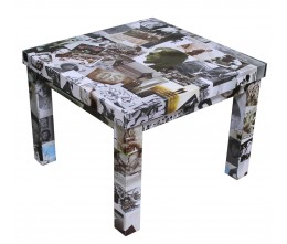 Photo Collage End Table