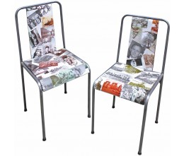 Photo Collage Chairs (set of 2)