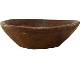 Medium Vintage Wooden Bowl