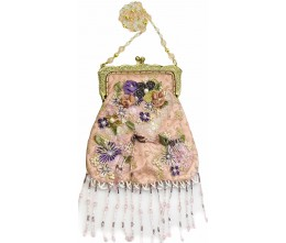 Victorian-inspired Fringed Pink Purse