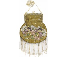 Victorian-inspired Fringed Gold Purse