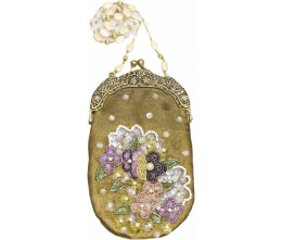 Victorian-inspired Small Gold Purse