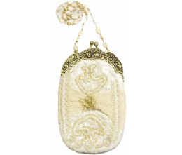 Victorian-inspired Small Ivory Purse