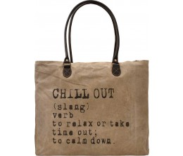 Chill Out Recycled Military Tents Market Tote