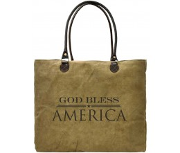 God Bless America Recycled Military Tents Market Tote
