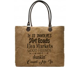 Dirt Roads Recycled Military Tents Market Tote FRONT
