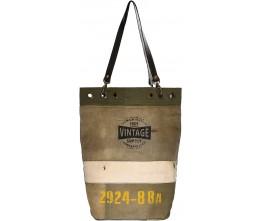Vintage Supply Bucket-Style Tote