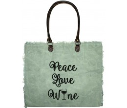 Peace, Love, Wine Market Tote