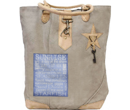 A Day At The Shore Canvas Tote
