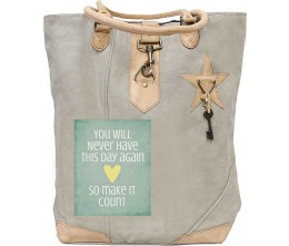 Make It Count Canvas Tote