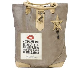 Keep Smiling Canvas Tote
