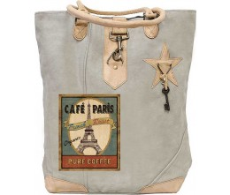 Café Paris Canvas Tote
