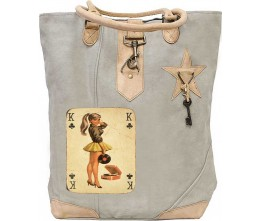 Pin Up Playing Card Canvas Tote
