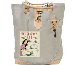 Housework Kills Canvas Tote