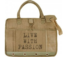 Live With Passion Laptop/Messenger Bag