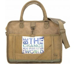 Be The Change Laptop/Messenger Bag