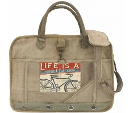 Life Is A Beautiful Ride Laptop/Messenger Bag