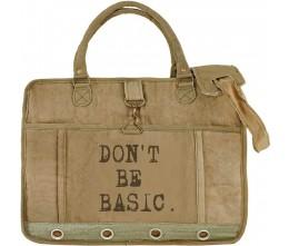 Don't Be Basic Laptop/Messenger Bag