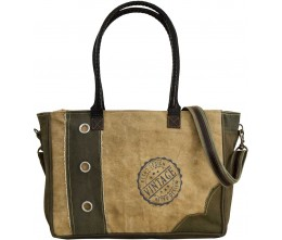 Vintage Life Small Zipped Tote