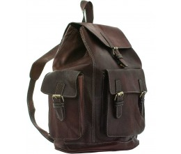 Marrakesh Cognac Leather Backpack FRONT