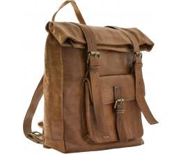 Medina Caramel Leather Backpack FRONT