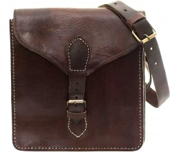 Kasbah Chocolate Leather Crossbody FRONT