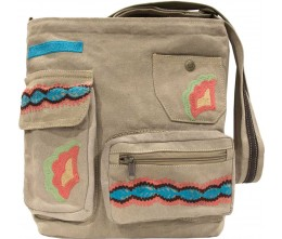 Embroidered Tent Crossbody