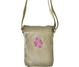 Desert Sand Embroidered Canvas Crossbody