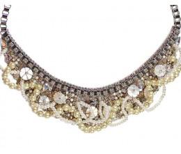 Vintage Inspired Pearl Rhinestone Necklace