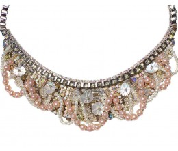 Pink Pearl Vine Necklace