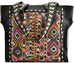 Black Leather Studded Tote