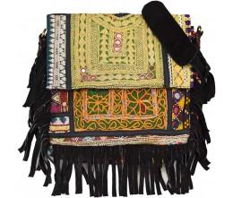 Black Boho Chic Messenger Bag