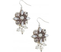 Fascination White Earrings
