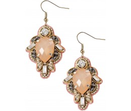 Classic Peach Tear Drop Earrings