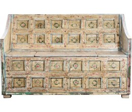 Antique Ivory Hand-painted Wooden Sofa