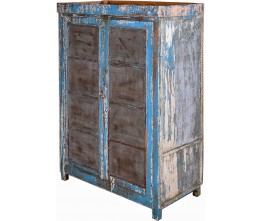 Ice Blue Vintage Cabinet with Mesh Panels