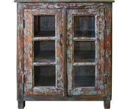 Multi-Hue 2-Glass Door Cabinet