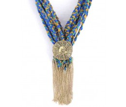 Blue/Green Infinity Scarf Necklace
