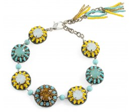 Zellige Blue and Yellow Bracelet