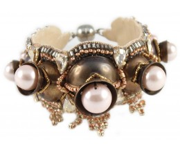 Copper Treasures Pearl Bracelet