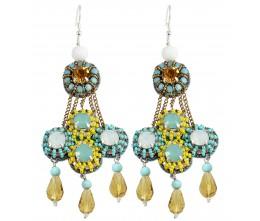 Zellige Blue and Yellow Earrings