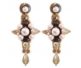Copper Treasures Pearl Earrings