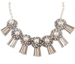 Vintage Inspired Pearl Costume Necklace