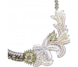Unique Rhinestone Coral Shaped Costume Necklace