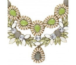 Vintage Glamour Lime Necklace